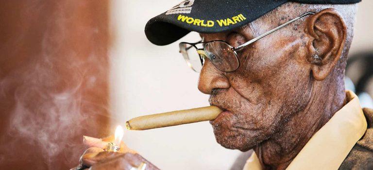 112 year old cigar smoker